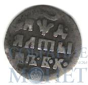 Алтын, серебро, 1704 г., Б.К.