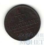 1/2 крейцера, 1851 г., В, Австрия