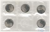 25 центов, 2012 г., Канада, в банковской упаковке, 5 шт.