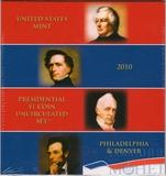 Набор из 8 монет номиналом 1 доллар США, 2010 г., президенты, монетные дворы P и D