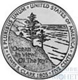 """5 центов США, 2005 г., юбилейная монета """"Освоение запада - океан"""""""