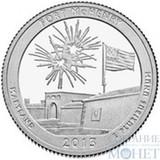 """25 центов США, 2013 г., """"Форт Мак-Генри"""" D"""
