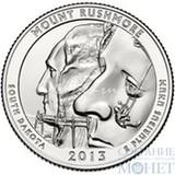 """25 центов США, 2013 г., """"Национальный мемориал Маунт-Рашмор"""" P"""