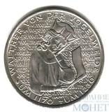 """5 марок, 1980 г., ФРГ, """"Вальтер фон дер Фогельвейде"""""""