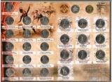 Набор памятных монет к 200-летию победы России в Отечественной войне 1812 г., в альбоме, 28 шт.