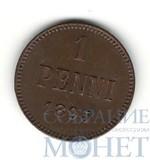 Монета для Финляндии: 1 пенни, 1895 г., UNC, редкая в таком состоянии.