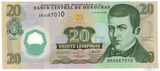 20 лемпира, 2008 г., Гондурас