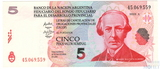 5 песо, 1985 г.,  Аргентина, региональный выпуск