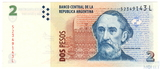 2 песо, 1997 г., Аргентина