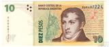 10 песо, 1998 г., Аргентина