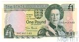 1 фунт, 1989 г., Джерси
