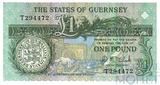 """1 фунт, 1980-1989 гг.., Гернси, подпись """"Д.М. Кларк"""""""