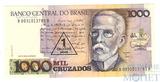 1000 крузейро, Бразилия, с надпечаткой