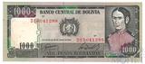 1000 песо, 1982 г., Боливия