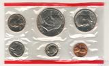 Годовой набор монет США, 1973 г., монетный двор D