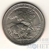 """25 центов США, 2010 г., """"Йеллоустонский национальный парк"""" P"""