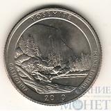 """25 центов США, 2010 г., """"Йосемитский национальный парк"""" P"""