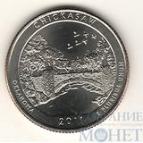 """25 центов США, 2011 г., """"Рекреационная зона Чикасо"""" D"""