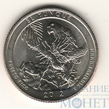 """25 центов США, 2012 г., """"Национальный лес Эль-Юнке"""" D"""