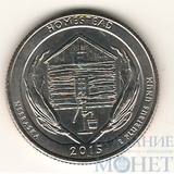 """25 центов США, 2015 г., """"Национальный монумент Гомстед"""",  P, D"""
