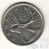 """25 центов, 1976 г., Канада,""""Олень"""""""