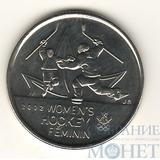 """25 центов, 2009 г., Канада,"""" Женский хоккей"""""""