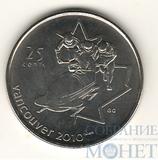 """25 центов, 2008 г., Канада,""""Бобслей"""""""