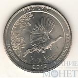 """25 центов США, 2015 г., """"Национальные лес Kisatchie"""" P"""