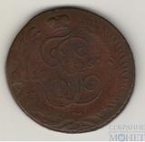 "5 копеек, 1763 г., СПМ,""перечекан"""