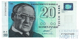 20 марок, 1993 г., Финляндия