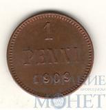 Монета для Финляндии: 1 пенни, 1909 г., UNC