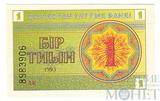 1 тиын, 1993 г., Казахстан