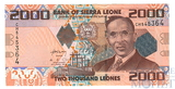 2000 леон, 2010 г., Сьерра-Леоне