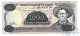 "1000 кордоба, 1987 г.,""с надпечаткой 500.000"", Никарагуа"
