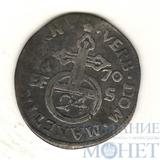 1/24 талера(3 пфеннинга), серебро, 1670 г., Магдебург(Германия)