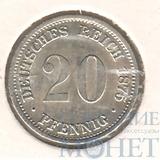 20 пфеннингов, серебро, 1875 г., Германия