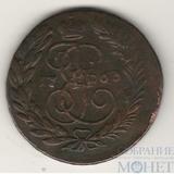 2 копейки, 1763 г., ММ, перечекан