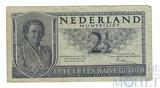 2 1/2 гульдена, 1949 г., VF, Нидерланды