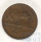 2 цента, 1983 г., ЮАР