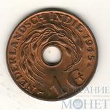 1 цент, 1945 г., P UNC, Нидерланды(Вест- Индия)