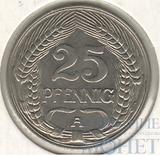 25 пфеннингов, 1910 г., А, Ni, Германия