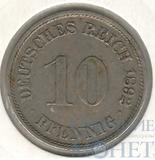 10 пфеннингов, 1892 г., А, Cu-Ni, Германия