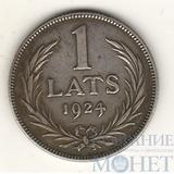 1 лат, серебро, 1924 г., Латвия