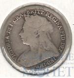 3 пенса, серебро, 1894 г., Великобритания