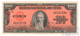 100 песо, 1959 г., Куба