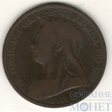 1 пенни, 1900 г., Великобритания (Виктория)