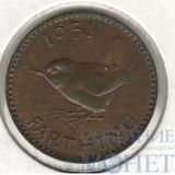1 фартинг, 1951 г., Великобритания (Георг VI)