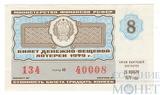 Билет денежно-вещевой лотереи, 23 ноября 1979 года, выпуск 8