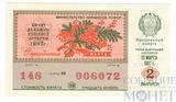 """Билет денежно-вещевой лотереи, 13 марта 1987 года, выпуск 2,""""ПРАЗДНИЧНЫЙ ВЫПУСК"""""""