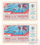 Билет денежно-вещевой лотереи, 7 июля 1990 года, выпуск 1 ДОСААФ СССР